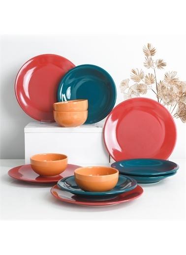 Keramika  Ege Rainbow Yemek Takımı 12 Parça 4 Kişilik - 520 Renkli